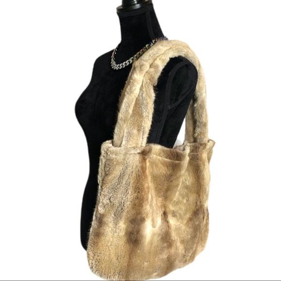 Eureka Vintage 90's 100% Genuine Fox Fur Tote Bag